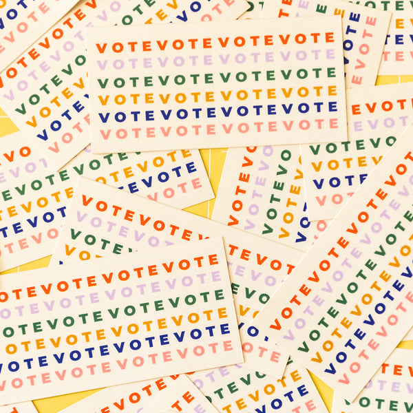 Multicolored Vote Sticker