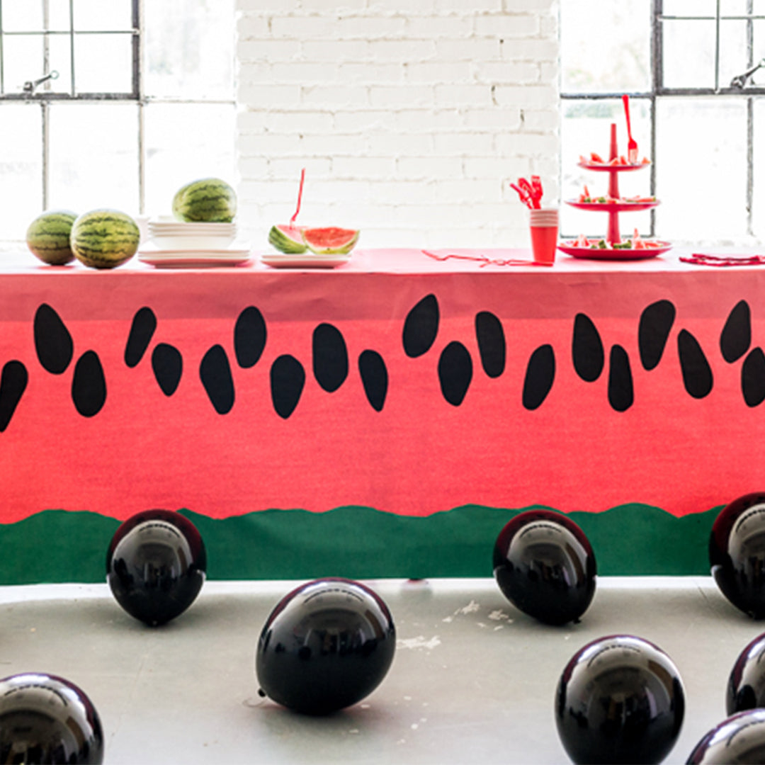 Paper Watermelon Tablecloth, SVG & PDF Template