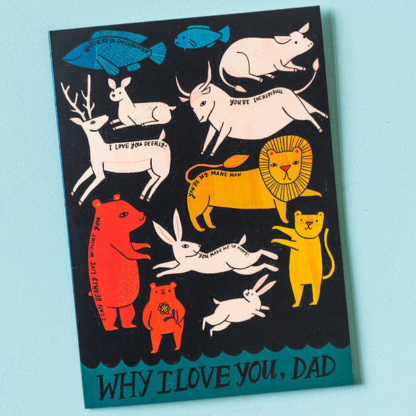"""Why I Love You, Dad"" Father's Day Card, PDF Printable"