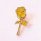 This dainty rose pin is the perfect keepsake you can wear wherever you go. The white one is minimal and precious. Make it your lucky pin! An yellow enamel with gold pin shaped like a rose with a stem and leaves