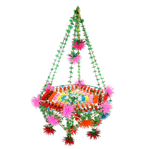 Colorful Star Pajaki Chandelier