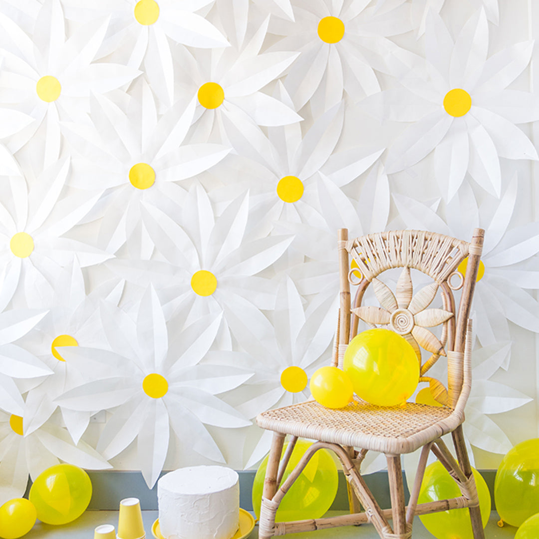 Paper Daisy Backdrop, PDF Template