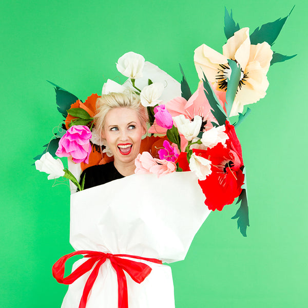 Sweet Pea Paper Flower Bouquet Costume, PDF Template