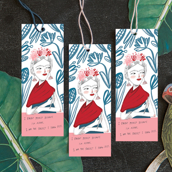 Frida Kahlo Bookmark, Free PDF Printable