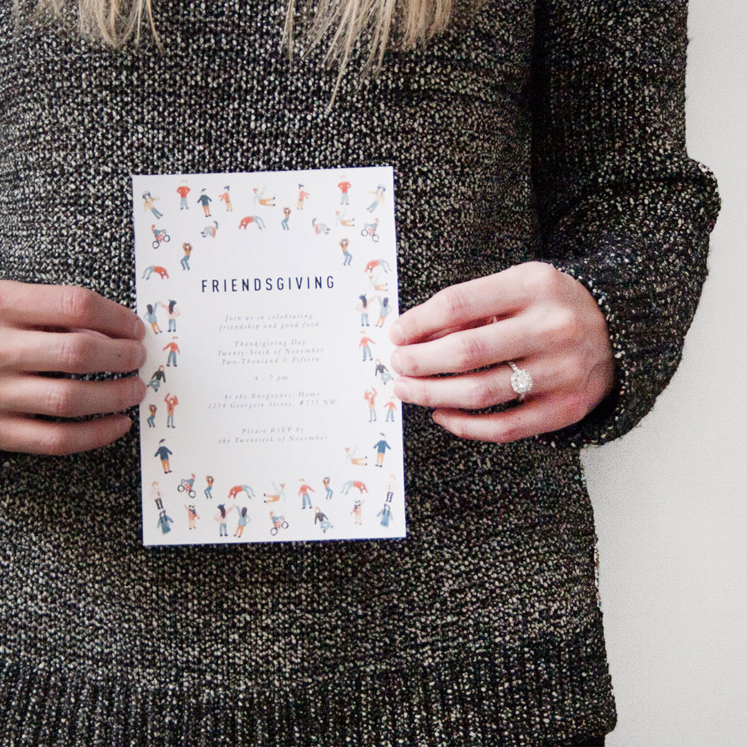 Friendsgiving Invitations, PDF Printable