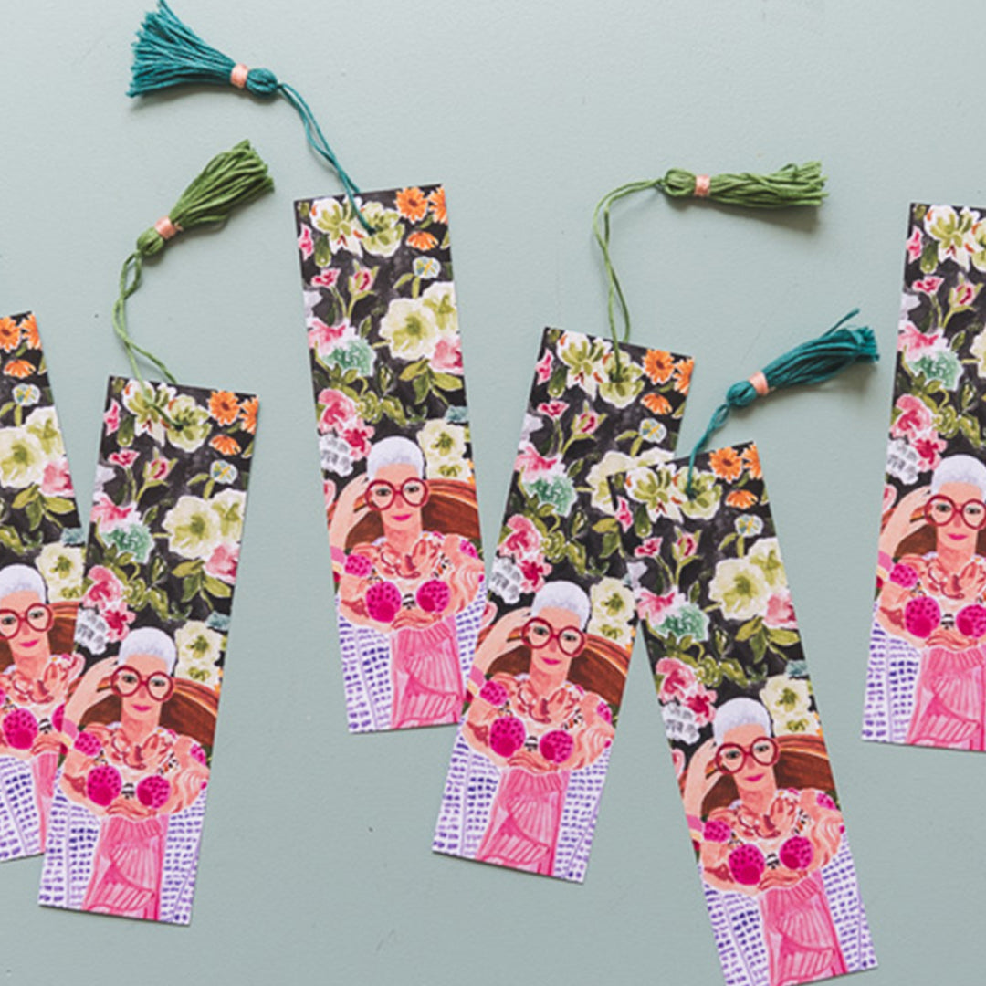Iris Apfel Bookmark, Free PDF Printable