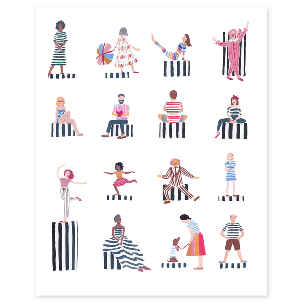 Stripe Is Rhythm Print by Jaqueline Diedam