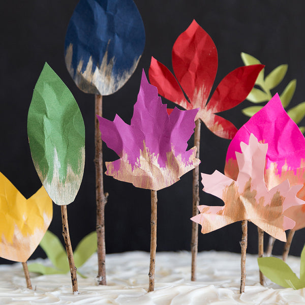 Fall Leaf Cake Topper, PDF Template