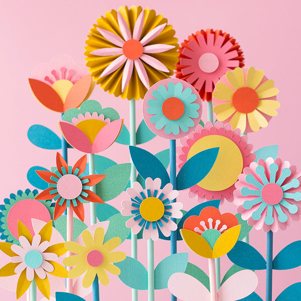 Paper Flower Cake Topper, SVG Template