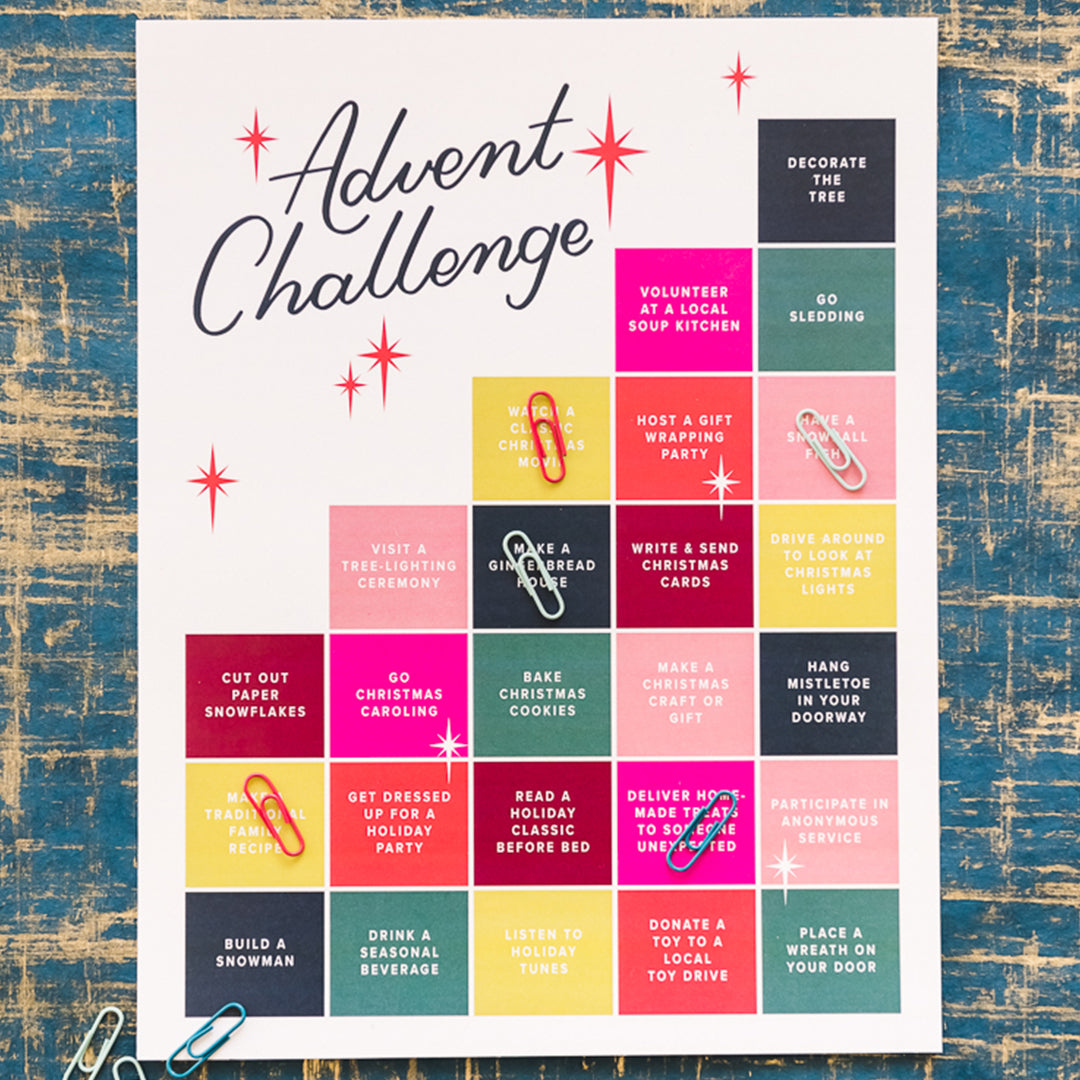 Christmas Photo Advent Challenge, PDF Printable