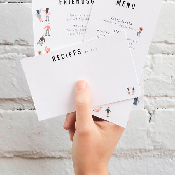 Friendsgiving Recipes to Share, PDF Printable