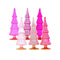 Assorted Glass Christmas Trees (Set of 6), DS