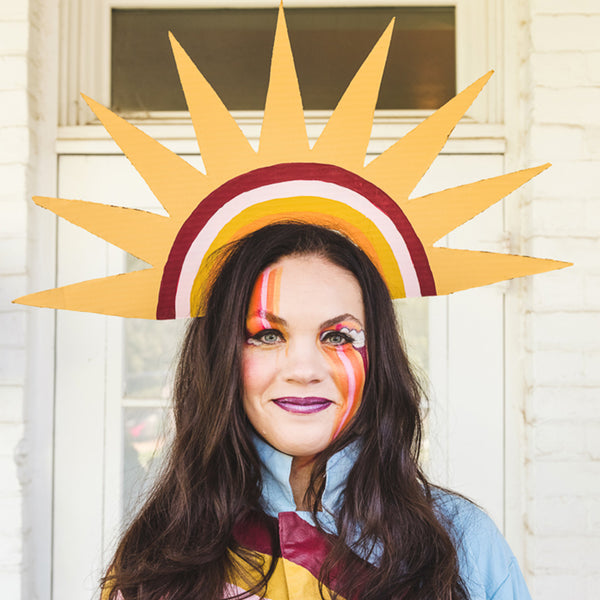 Sun Rainbow Headpiece, PDF Template