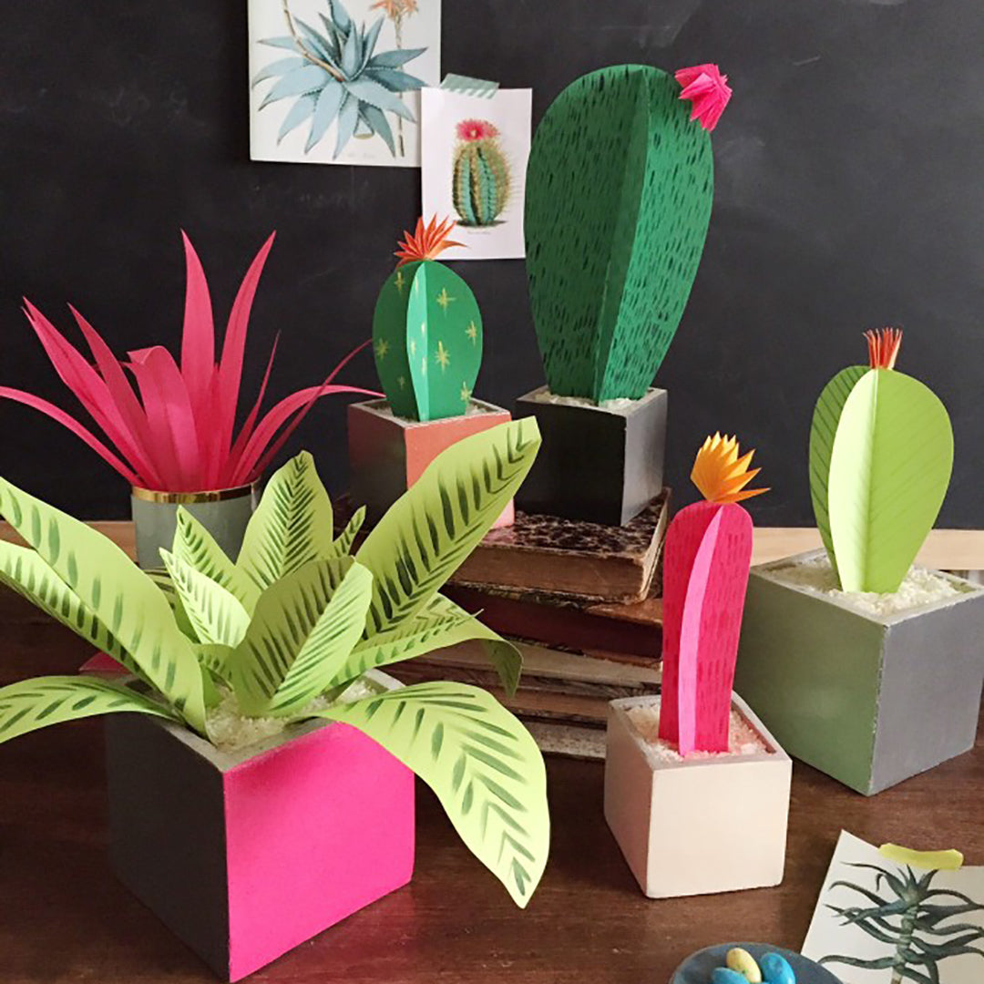 DIY Paper Plants, PDF Template