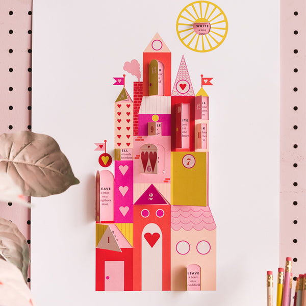 Valentine Advent Calendar, PDF Printable