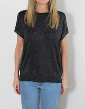 Load image into Gallery viewer, Frankies Lurex Tee - Black