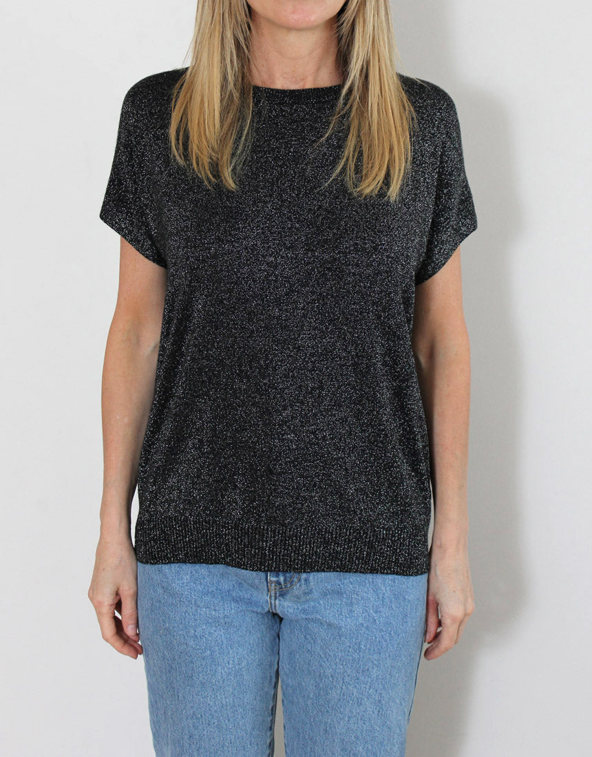 Frankies Lurex Tee - Black