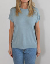 Load image into Gallery viewer, Frankie Lurex Tee - Pale Blue
