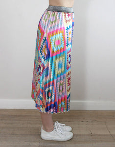 Frankie Pleated Skirt - Patchwork