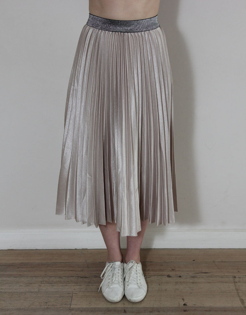 Frankie Pleated Skirt - Champagne
