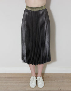 Frankies Pleated Skirt - Charcoal