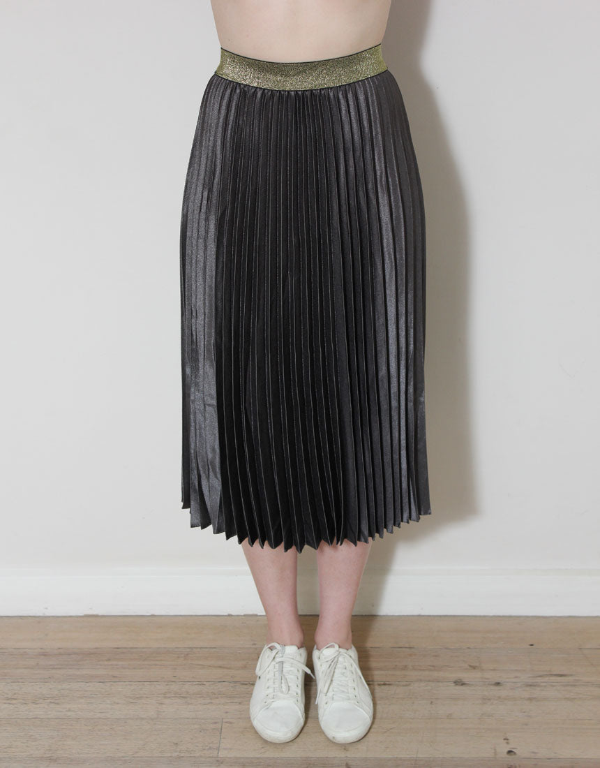 Frankie Pleated Skirt - Charcoal