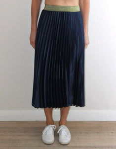 Frankies Pleated Skirt - Navy