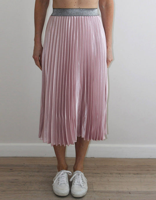Frankies Pleated Skirt - Pink