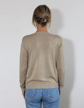 Load image into Gallery viewer, Frankie Long Sleeve Lurex Top - Coffee