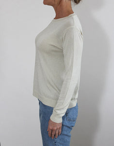 Frankies Long Sleeve Lurex Top - Champagne