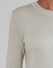 Load image into Gallery viewer, Frankies Long Sleeve Lurex Top - Champagne