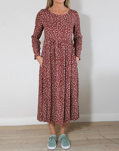 Mila Dress - Rust / Natural