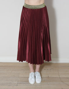 Frankies Pleated Skirt - Wine