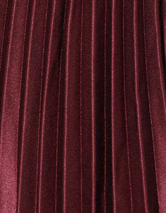 Frankie Pleated Skirt - Wine
