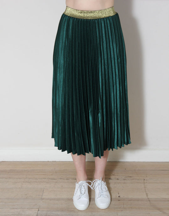 Frankie Pleated Skirt - Gucci Green