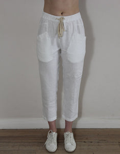 Little Lies Luxe Pants - White