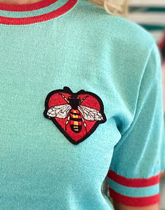 PRE-ORDER FOR 11th JANUARY  Frankie Bee Knit - Aqua