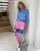 Load image into Gallery viewer, Frankie Pleated Block Patchwork Skirt