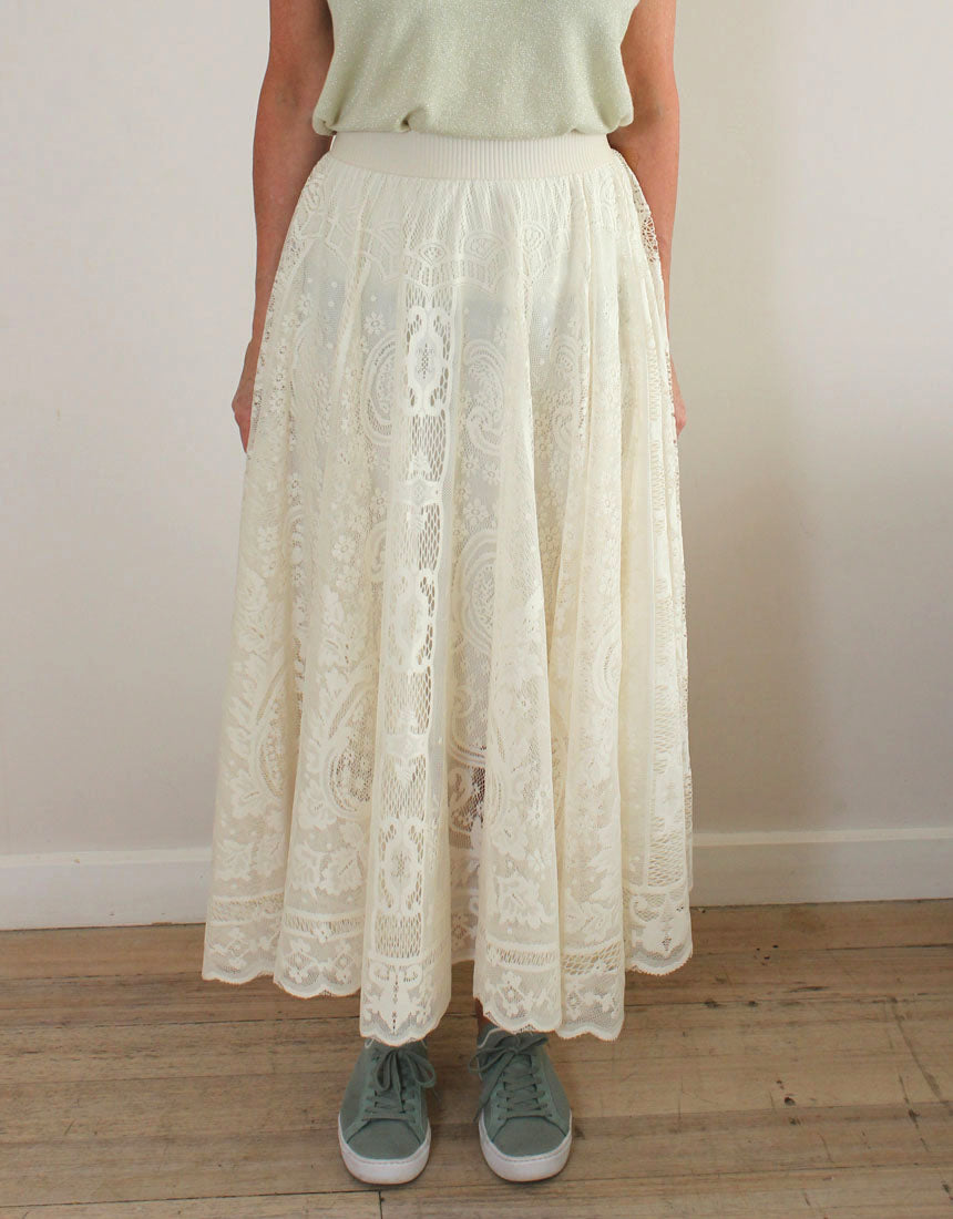 Frankies Lace Skirt - Ivory