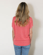 Load image into Gallery viewer, Frankie Lurex Tee - Coral