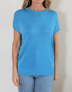 Frankie Lurex Tee - Denim