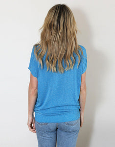 Frankies Lurex Tee - Denim