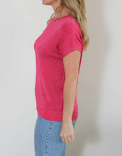 Load image into Gallery viewer, Frankies Lurex Tee - Hot Pink