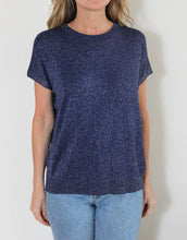 Load image into Gallery viewer, PRE-ORDER APPROX. FEBRUARY Frankie Lurex Tee - Navy