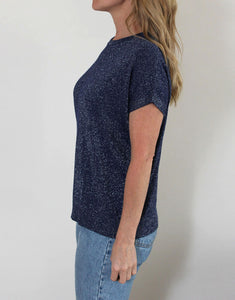 PRE-ORDER APPROX. FEBRUARY Frankie Lurex Tee - Navy