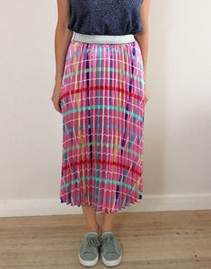 Frankies Pleated Skirt - Checkered