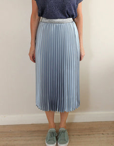 Frankies Pleated Skirt - Pale Blue