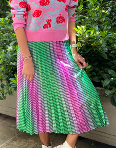 Frankies Fade Out Skirt - Pink/Green