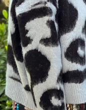 Load image into Gallery viewer, Frankies Fluffy Leopard Knit - Baby Blue