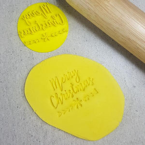 Custom Cookie Cutters Embosser - Merry Christmas